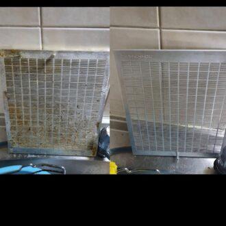 空室清掃にてフードの清掃
